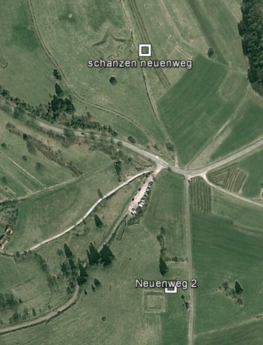 Neuenweger Schanzen. Quelle: Google Earth.