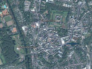 Jülich heute. Quelle: Google Earth.