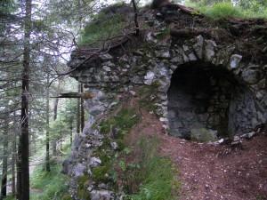 Poterne im Raum Bastion I, Verbindungsgang zur untersten Kurtine