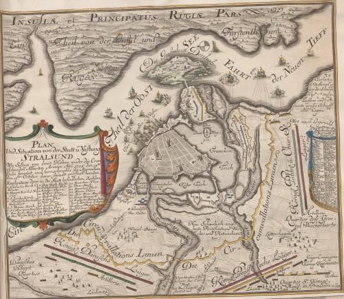 Stralsund 1735. Aus der Sammlung Nicolai: Siéges P-S, 55r. Quelle: Württembergische Landesbibliothek.