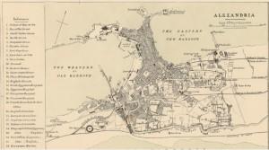 Karte von Alexandria. 1882. Quelle: gallica.bnf.fr