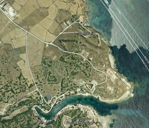 Fort St. Philippe (Mallorca). Quelle: Google Earth.