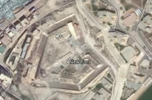 New Fort bei Abukir. Quelle: Google Earth.
