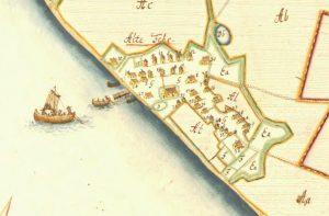 Ausschnitt aus der Matrikelkarte von 1695. Quelle: Geogreif.