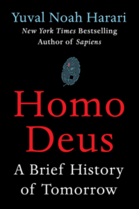 "Book cover of ""Homo Deus - A brief history of tomorrow"" by Yuval Noah Harari"