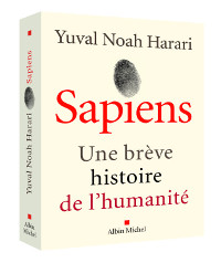 "Book cover of ""Sapiens - a brief history of humankind"" by Yuval Noah Harari"