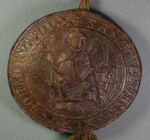 Monetary majestical seal of Wenceslas I., 1240