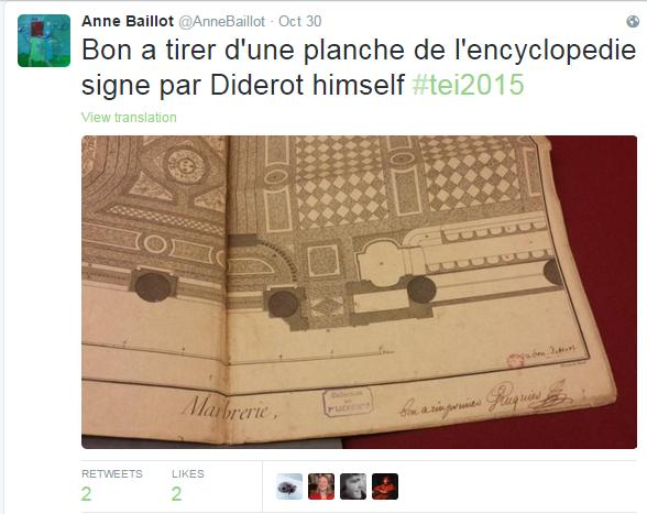 Bon à tirer d'une planche de l'Encyclopédie signée par Diderot