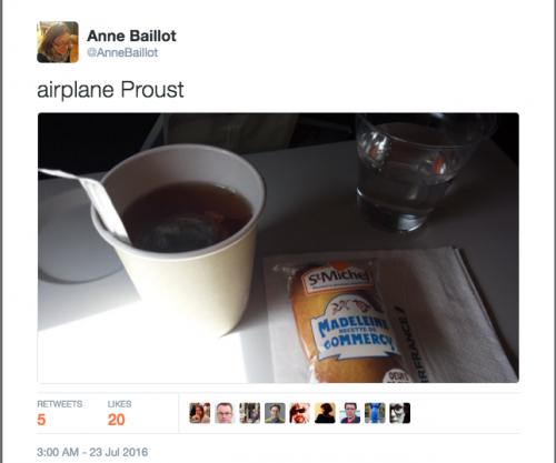 Commentaire sur la collation Air France servie dans le Berlin-Paris