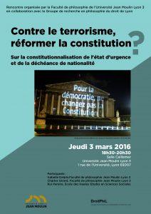 Affiche - Contre le terrorisme, réviser la constitution