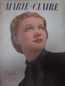 Couverture de Marie-Claire du 26 mars 1937, collection privée
