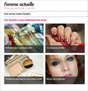 Capture d'écran 15 avril 2014, sélection de dossiers thématiques, Hellocoton