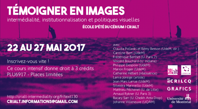Témoigner en images – École d'été (22-27 mai 2017)