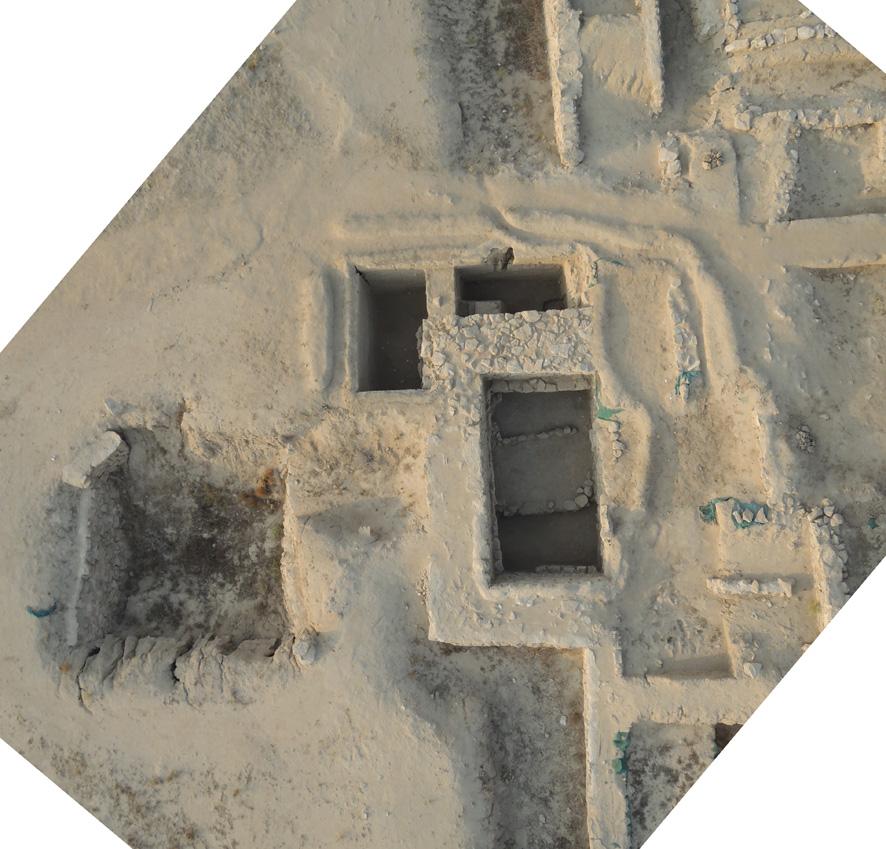 Fig. 1 : la tour 8 de la forteresse hellénistique, sur le rempart ouest (photo H. al Mutairi, DAM 2014)