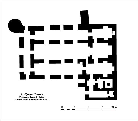 Fig. 2. : plan masse de l'église monumentale (d'après O. Callot, 2008)