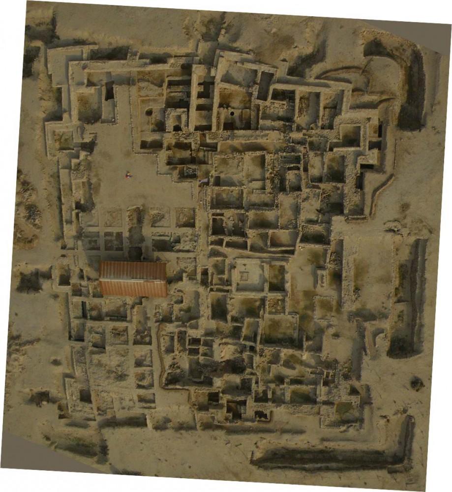 Fig. 3 : extension des fouilles danoises, américaines, françaises et grecques en 2009 (photo Y. Guichard, DAM 2009)