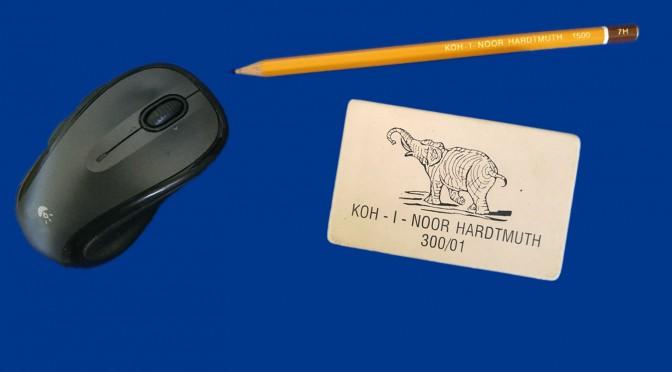 Dessin archéologique et documentation graphique.  Petit itinéraire d'une mine de plomb à une souris
