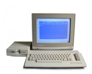 Commodore 64C system with 1541-II floppy drive and 1084S RGB monitor. Bill Bertram. CC BY-SA 2.5
