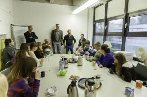 Diskussion mit Professoren des Geographischen Instituts
