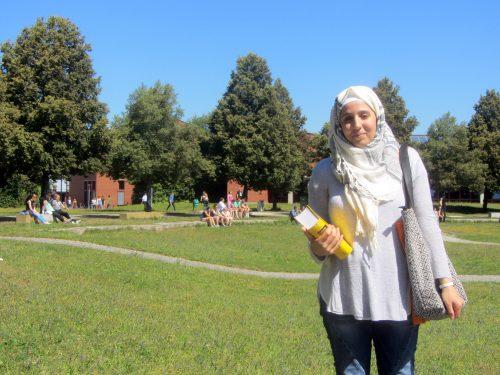 Bei der Sommer-Uni mit dabei: Walaa ist 27 Jahre alt, kommt aus Syrien und ist seit acht Monaten in Deutschland.