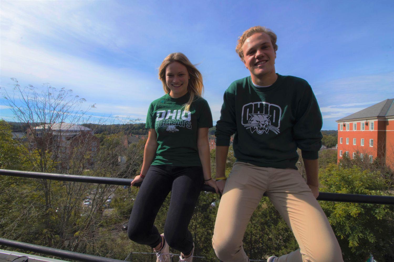 Lisa und Florian sind die ersten Studierenden der Uni Bayreuth des DoubleDegree-Programms mit der Ohio University.