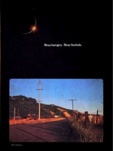 Whole Earth Catalog: «Stay Hungry. Stay Foolish.» (infilmity, Flickr.)