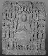 Fig. 23 : Terre Pure bouddhique, prov. Mohammed Nari, musée de Lahore. Photos Huntington Archives.