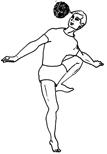 Fig. 8 : Joueur de balle chinlon