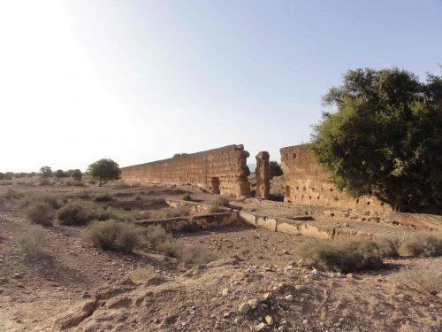 Figure 3 : La partie terminale de l'aqueduc de la sucrerie des Ouled Messaoud, vue vers le sud-est.