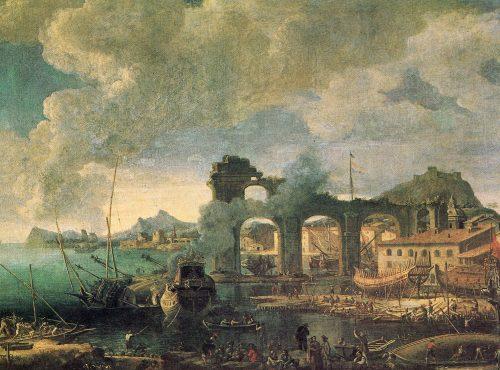 Figure 10. Jean-Baptiste de La Rose, Le port de la Ciotat en 1664, 1666, Marseille, musée de la Marine de la Chambre de Commerce de Marseille.