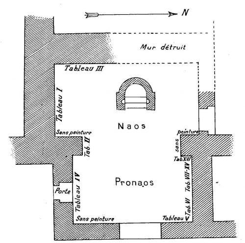 Fig. 8. Plan du temple du sanctuaire de Bêl (Doura-Europos). Cumont 1926, fig. 10.