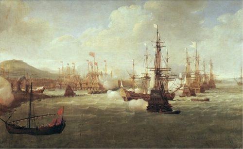 Figure 7. Jan Karel Donatus Van Beecq, Bombardement de Chio par Duquesne, 23 juillet 1681, Musée national de la Marine, inv. 1 OA 10D.