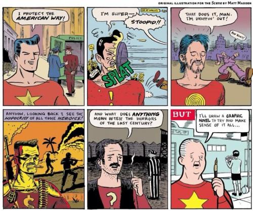 A History of American Comics in Six Panels © Matt Madden 2012