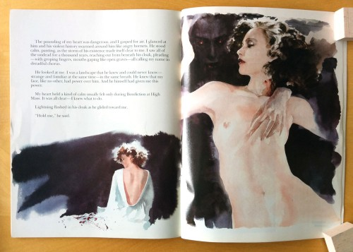 Jon J. Muth, Dracula: A Symphony in Moonight and Nightmares (Marvel Comics, 1986). lectorat adulte et érotisme revendiqué.