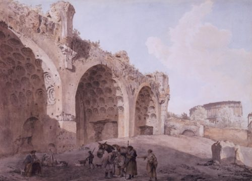 View in the Roman Forum (The Temple of Peace) - Abraham-Louis-Rodolphe Ducros - 1779