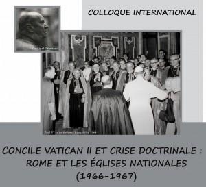 affiche concile vatican II et crise doctrinale