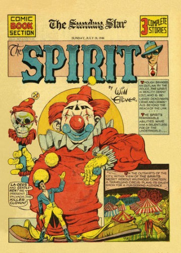 Palyachi, the Killer Clown, The Spirit, Will Eisner, The Detroit News (et syndication) July 28, 1940