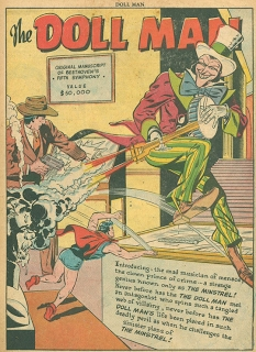 The Minstrel, Doll Man #23, July 1949