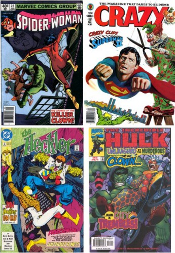 Spider-Woman #22, January 1980 / Crazy Magazine #81, December 1981 / The Heckler #3, November 1992 / The Incredible Hulk #471, December 1998