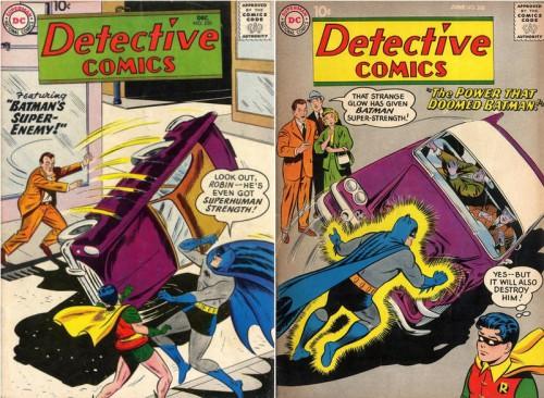 Detective Comics #250, December 1957 / Detective Comics #268, June 1959