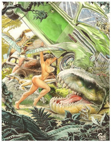 Cavewoman pin-up, by Budd Root, 2011