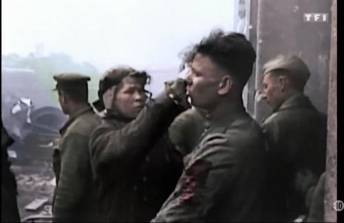 Photogramme de Délivrance, timecode 0:02:49, soldats russes