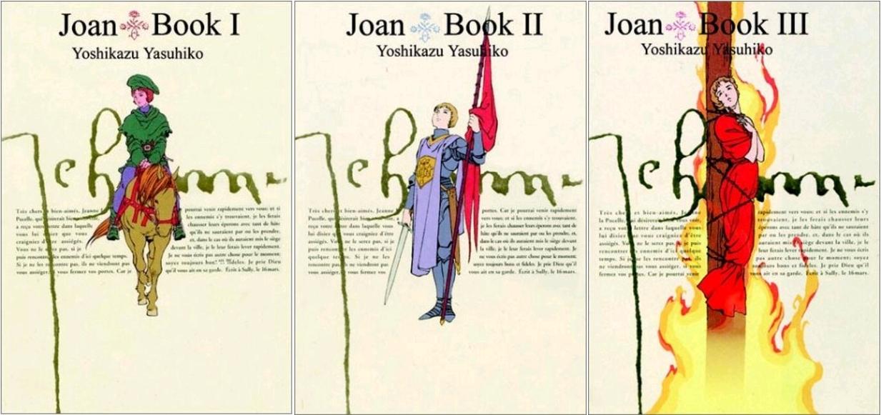 Joan, by Yoshikazu Yasuhiko, Book I, II, III, ComicsOne, édition originale 1995–1996