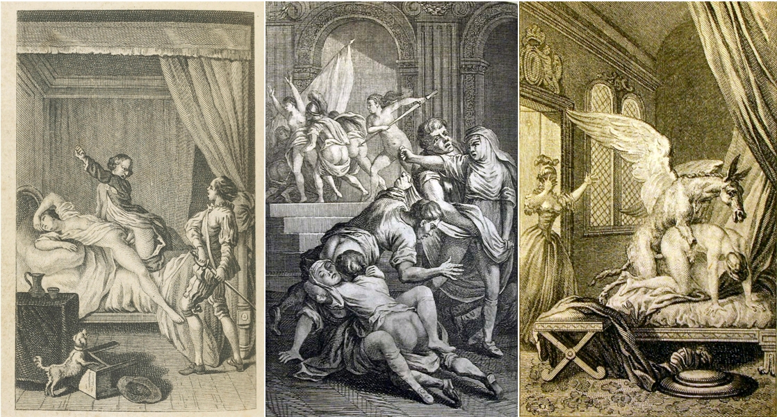 La Pucelle d'Orléans, Voltaire, gravures anonymes, ouvrage publié à Londres en 1775