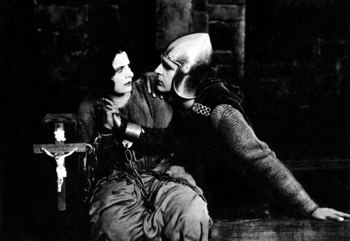 Joan the Woman, dir. Cecil B. DeMille, 1916, Joan (Geraldine Farrar) and Eric Trent (Wallace Reid)