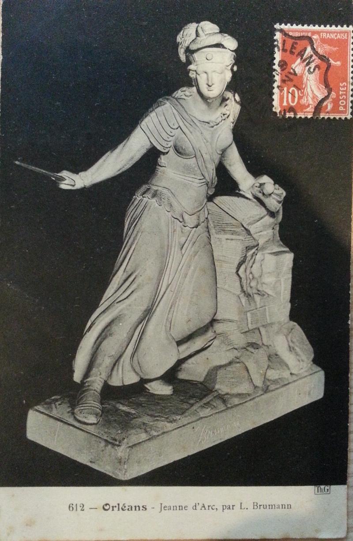 Statue de Jeanne d'Arc par L. Brumann, circa 1910, carte postale, Centre Jeanne d'Arc d'Orléans