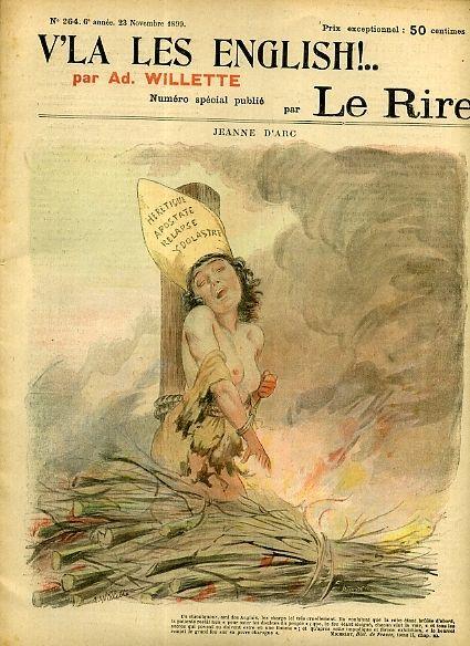 V'là Les English, Le Rire n° 264, Numéro Spécial, 23 Novembre 1899, dessin de Adolphe Léon Willette