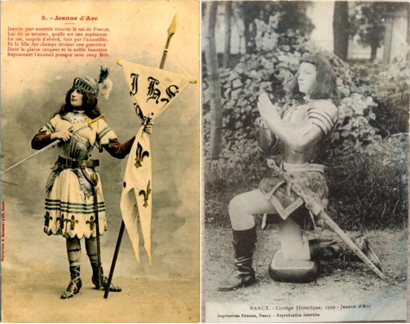 Jeanne d'Arc, la mission, Collection Pierre Boyer, circa 1903 / Nancy - Cortège historique, 1909, Jeanne d'Arc, Centre Jeanne d'Arc d'Orléans