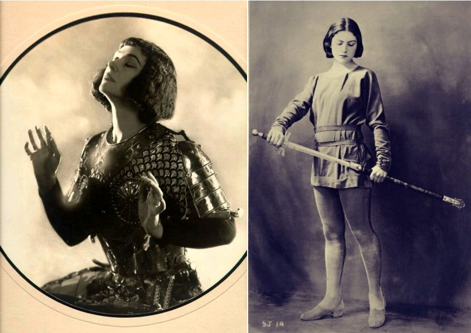 Joan of Arc, photo by Alfred Cheney Johnston, circa 1920 / Winifred Lenihan as Joan of Arc, circa 1923