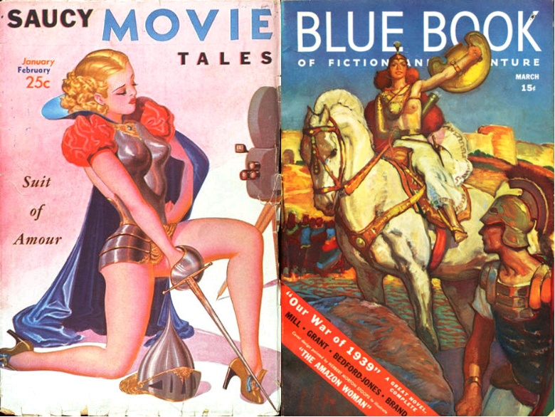 Saucy Movie Tales, January-February 1938 / Blue Book, March 1939